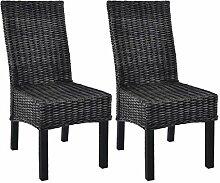 Festnight Esszimmerstühle 2 Stück | Retro