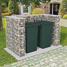 Festnight Gabione Mülltonnenbox