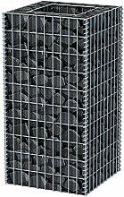 Festnight Gabionen Hochbeet aus Stahl 50 x 50 x