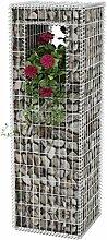 Festnight Gabionen Hochbeet aus Stahl 50x50x160 cm