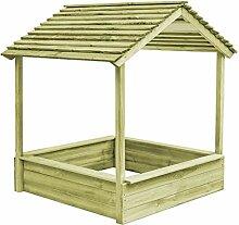 Festnight- Garten-Spielhaus mit Sandkasten