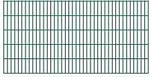 Festnight Garten Zaun Doppelstabmattenzaun Metall Gartenzaun aus Vorverzinkter Stahl Zaunpaneel 2008x1030 mm Grün