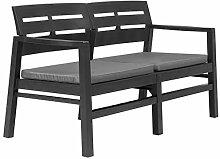 Festnight- Gartenbank mit Kissen Sitzbank für
