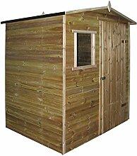 Festnight Gartenhaus Gartenlaube Laube Blockhütte aus Imprägniertes Kiefernholz 200 x 150 x 210 cm