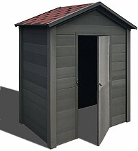 Festnight Gartenhaus Gerätehaus Gartenschuppen Geräteschuppen WPC Holzhaus 178x118x237cm für Hinterhof Garten - Grau und Ro