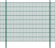 Festnight Gartenzaun Grün Doppelstabmattenzaun 2008x1830mm 44m grün
