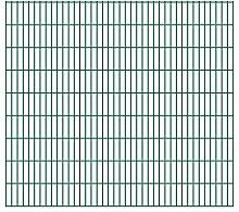 Festnight Gartenzaun Grün Doppelstabmattenzaun 2008x1830mm 46m grün