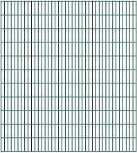 Festnight Gartenzaun Grün Doppelstabmattenzaun 2008x2230mm 36m grün