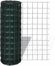 Festnight Gartenzaun Maschendraht Gitterzaun Schweißgitter 10×1,7 m mit 100×100 mm Maschenweite Stahl