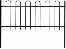 Festnight Gartenzaun mit Bügel-Design Stahl 1,7 x