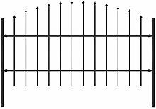 Festnight Gartenzaun mit Speerspitzen (0,75-1) x