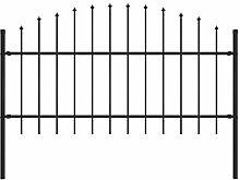 Festnight Gartenzaun mit Speerspitzen (1-1,25) x