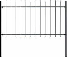 Festnight Gartenzaun mit Speerspitzen Stahl 1,7 x