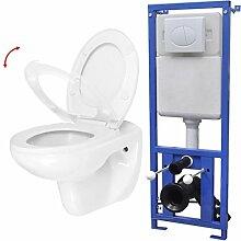 Festnight- Hänge WC mit Einbau-Spülkasten