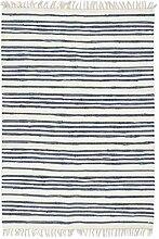 Festnight- Handgewebter Chindi-Teppich Dekorativ