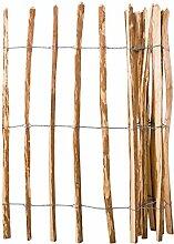 Festnight Holz-Lattenzaun Haselnussholz 120 x 250