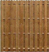 Festnight- Holz Sichtschutzzaun 170 x 170 cm Braun