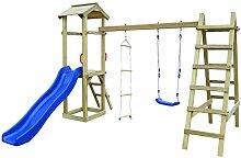 Festnight- Holz Spielturm mit Rutsche und Leiter |