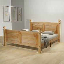 Festnight Holzbett Doppelbett Bett Bettgestell