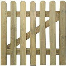 Festnight Holzgartentor Lattenzauntor aus Holz