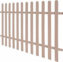 Festnight Holzzaun Lattenzaun Gartenzaun aus Holz Farbe und Größe Optional