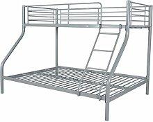 Festnight Kinder Etagenbett Doppelstockbett Metall
