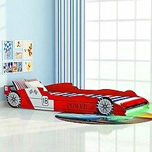 Festnight Kinderbett Autobett Rennwagen ohne
