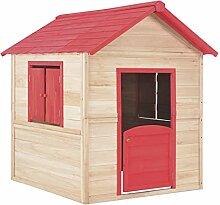 Festnight- Kinderspielhaus Holz-Spielhaus für