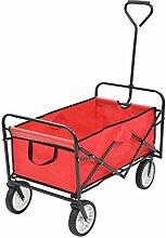 Festnight- Klappbarer Gartenwagen Handwagen