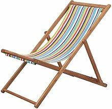 Festnight Klappbarer Strandstuhl | Gartenliege mit