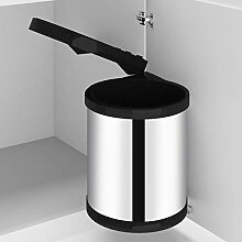Festnight Küchen-Einbau-Mülleimer Edelstahl 12 L