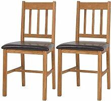 Festnight- Küchenstühle Stuhl mit Rückenlehne