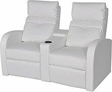 Festnight Kunstleder Heimkino Sessel 2-Sitzer Sofa