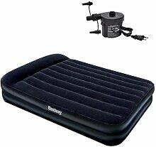 Festnight Luftmatratze Aufblasbares Luftbett Luft Bett mit eingebauter elektrischer 110W Pumpe 203x157x47cm