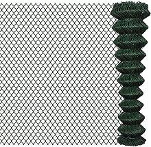 Festnight Maschendrahtzaun Maschendraht Maschnzaun Maschinengeflecht Verzinkte Stahldrähte mit PVC-Beschichtung 2x15m Grün