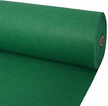 Festnight Messeteppich Glatt Auslegware Polyester Teppichboden Bodenbelag 1x12m Wiederverwendbar Grün Ideal für Hochzeiten, Parties, Shows