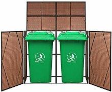 Festnight- Mülltonnenbox für 1 Tonne/ 2 Tonnen