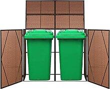 Festnight Mülltonnenbox für 2 Mülltonnen