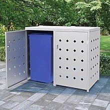 Festnight Mülltonnenbox für 2 Tonnen 240 L