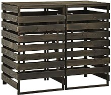 Festnight Mülltonnenbox Holz für 2 Mülltonnen