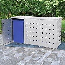 Festnight Mülltonnenbox Müllbox