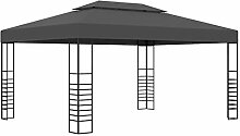 Festnight Pavillon 3×4 m mit Dach Gartenpavillon
