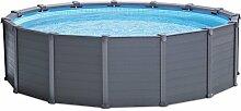 Festnight PVC Pool Rundes Schwimmbad Schwimmbecken