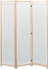 Festnight Raumteiler Trennwand Kiefer Massiv 120 x