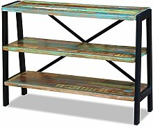 Festnight Retro-Stil Sideboard Holz Anrichte mit 3