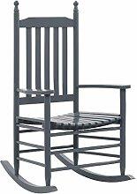 Festnight- Schaukelstuhl mit gebogener Sitzfläche