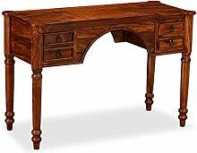 Festnight Schreibtisch Arbeitstisch aus Massives