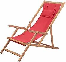 Festnight- Sonnenliege Klappbarer Strandstuhl