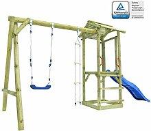 Festnight- Spielturm mit Leiter Rutsche Schaukel