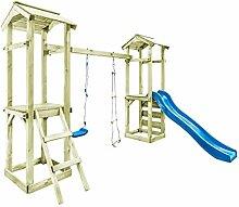 4c7d76a9b5113c Festnight- Spielturm mit Leiter Rutsche Schaukel